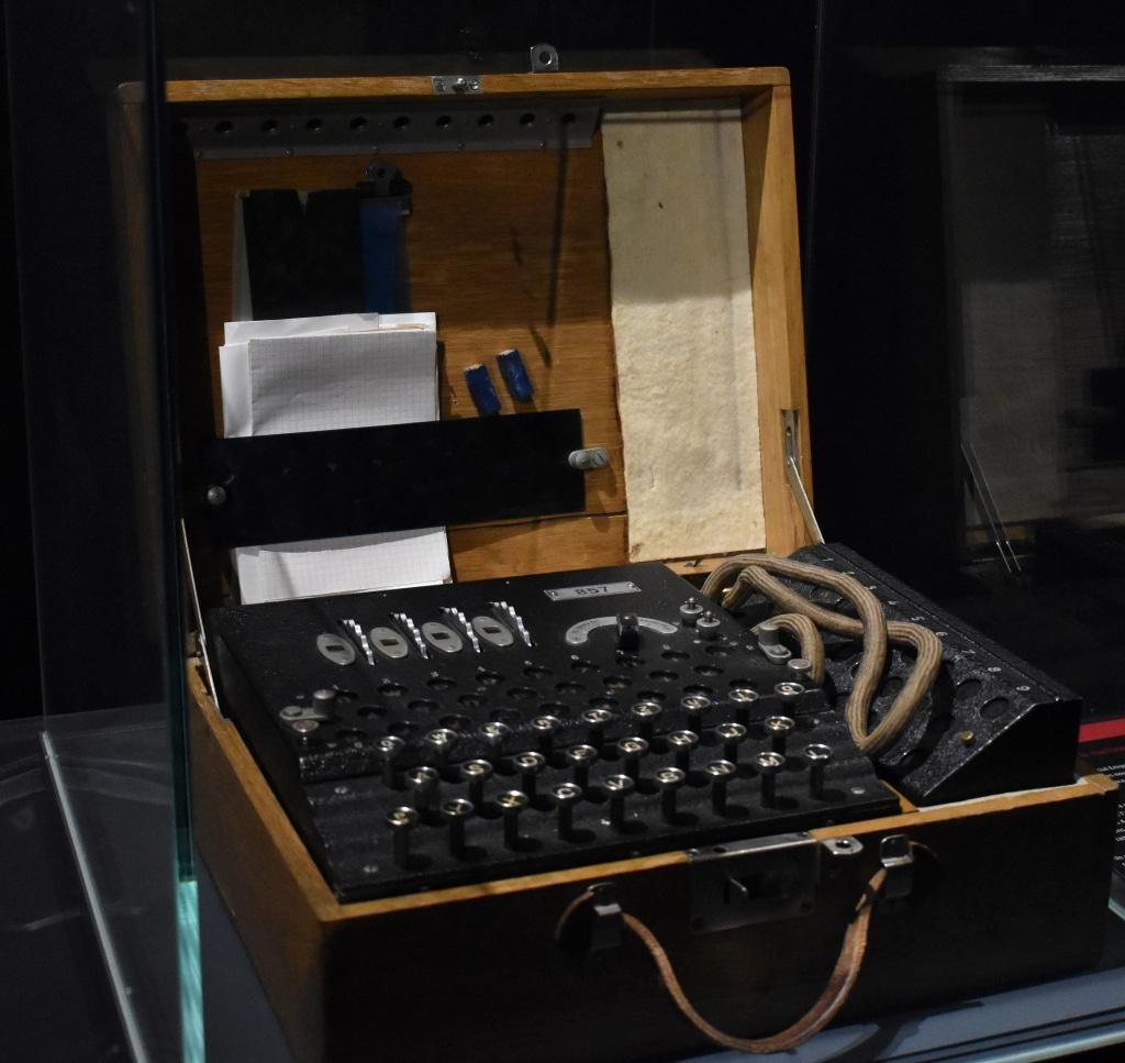 The Enigma machine from WW2